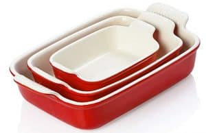 who makes the best ceramic cookware in red