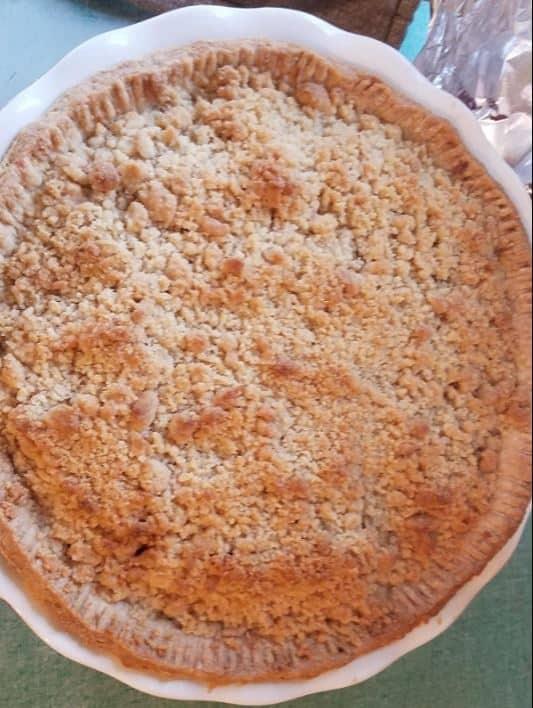8 inch ceramic pie dish apple picture