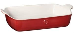 Red Extra Large Ceramic Baking Dish Picture